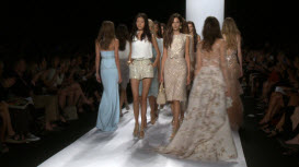 Badgley Mischka bij de Mercedes-Benz Fashion Week in New York 455165324